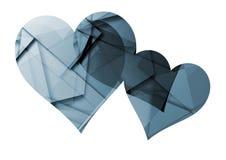 Coeur avec le fond graphique Images libres de droits