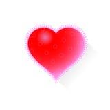 Coeur avec le modèle Photo stock