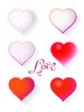 Coeur avec le modèle Photos stock