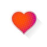 Coeur avec le modèle Images stock