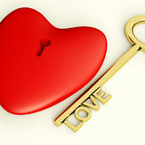 Coeur avec le plan rapproché principal montrant l'amour Romance et les valentines Photo libre de droits