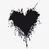 Coeur avec le sang Photo stock