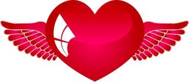 Coeur avec les ailes 2 Photographie stock libre de droits