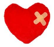 Coeur avec un plâtre photo stock