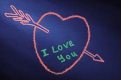 Coeur avec une flèche Photo stock