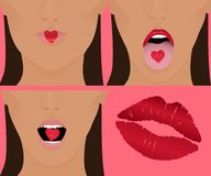 Coeur, baiser, amour Images stock