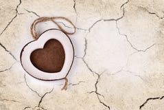 Coeur blanc Image libre de droits