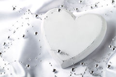 Coeur blanc Photos libres de droits