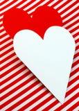 Coeur blanc d'amour de carte Photo libre de droits