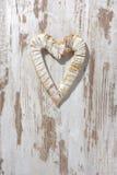 Coeur blanc de l'amour Photos stock
