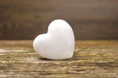Coeur blanc de l'amour Photo stock