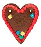 Coeur blanc de pain d'épice Images libres de droits