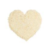 Coeur blanc de sésame Images stock