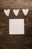Coeur blanc des biscuits Photo libre de droits