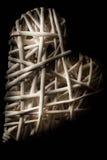 Coeur blanc discret pêché Photo libre de droits