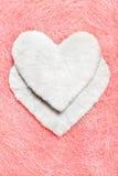 Coeur blanc valentine Photo libre de droits