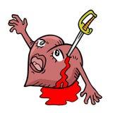 Coeur blessé Photo libre de droits