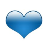 Coeur bleu [01] Photographie stock