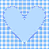 Coeur bleu Images stock