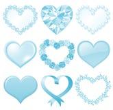 Coeur bleu Images libres de droits