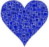 Coeur bleu Photos libres de droits