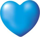 Coeur bleu Image libre de droits