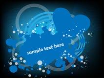 Coeur bleu abstrait Photographie stock libre de droits