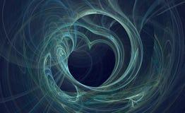 Coeur bleu déformé Images libres de droits