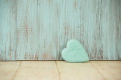 Coeur bleu d'amour pour le jour de valentines Photo stock