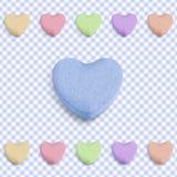 Coeur bleu de sucrerie Photographie stock libre de droits