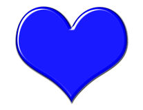 Coeur bleu magnifique Photo libre de droits