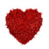 Coeur bouclé de fourrure Photo stock