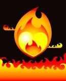 Coeur brûlant Photographie stock libre de droits