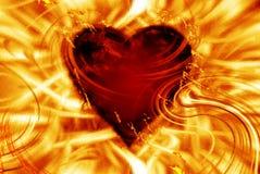 Coeur brûlant Image stock