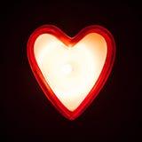 Coeur brûlant de bougie Images stock
