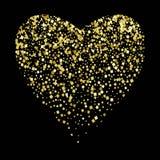 Coeur brillant avec des places sur un fond noir illustration de fête Amour, jour de la valentine s, mariage, roman illustration libre de droits