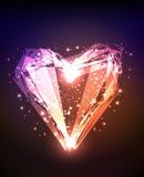 Coeur brillant brillant abstrait Photo libre de droits