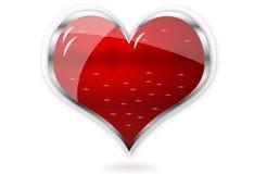 Coeur brillant rouge de vecteur Image stock