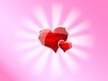 Coeur brillant rouge de vecteur pour le jour de valentines Image libre de droits