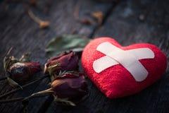 Coeur brisé, concept de jour d'amour et de valentines Image stock
