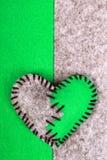 Coeur brisé piqué de feutre Photo libre de droits