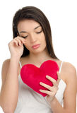 Coeur brisé, sans amour, pleurant… Photos libres de droits