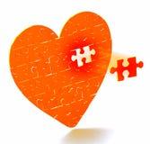 Coeur brisé Images libres de droits