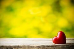 Coeur Carte de voeux Photographie stock