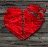 Coeur cassé illustration stock