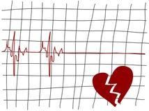 Coeur cassé Photos stock