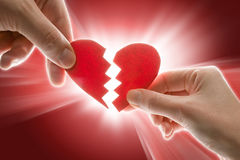 Coeur cassé Photographie stock libre de droits