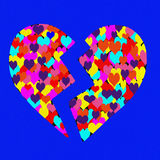 Coeur cassé Photos libres de droits