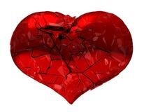 Coeur cassé - amour non récompensé, mort ou douleur Image libre de droits