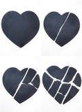 Coeur cassé d'amour Image libre de droits